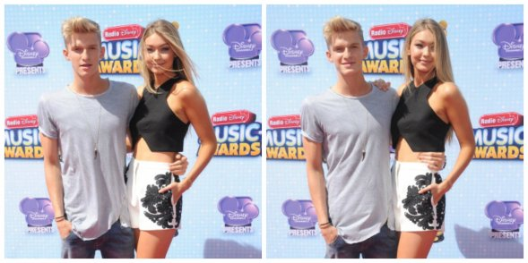 26 avril: Cody et Gigi Hadid à 2014 Radio Disney Music Awards