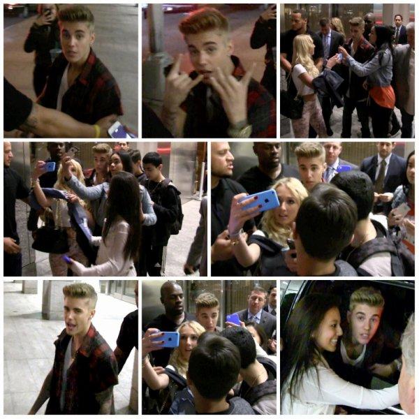 > 28.04 - Justin sortant du restaurant Nobu, New York
