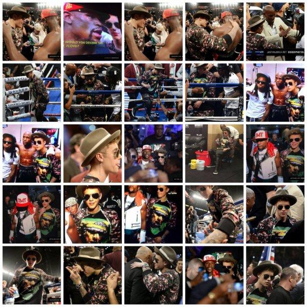 03.05- Justin à un match de boxe, Las Vegas