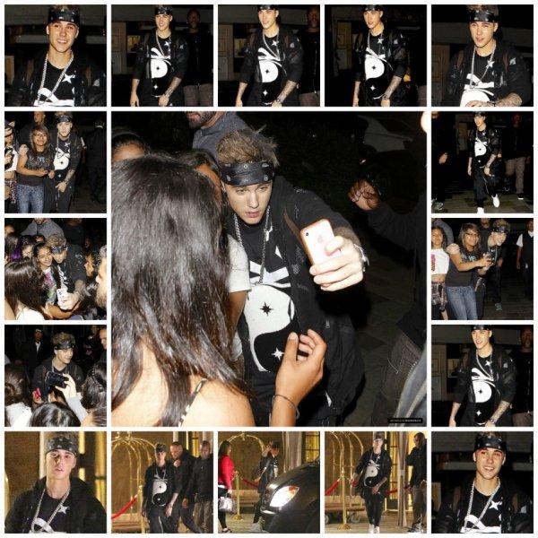 10.05 -Justin rencontre ses fans à la sortie de son hôtel, Beverly Hills, Californie