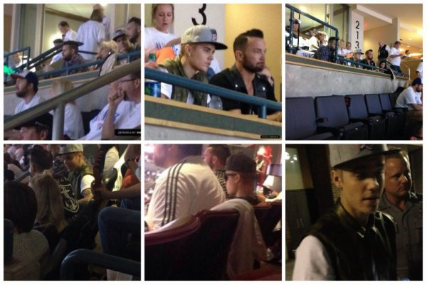 13.05 - Justin à un match de Basketball à Oklahoma
