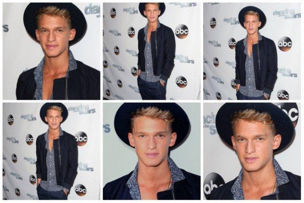 20 mai: Cody sur le tapis rouge à la danse avec la Saison étoiles 18 fête de fin officielle