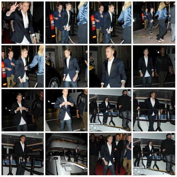 19.05 - Justin quitte une soirée à bord d'un yacht à Cannes, France