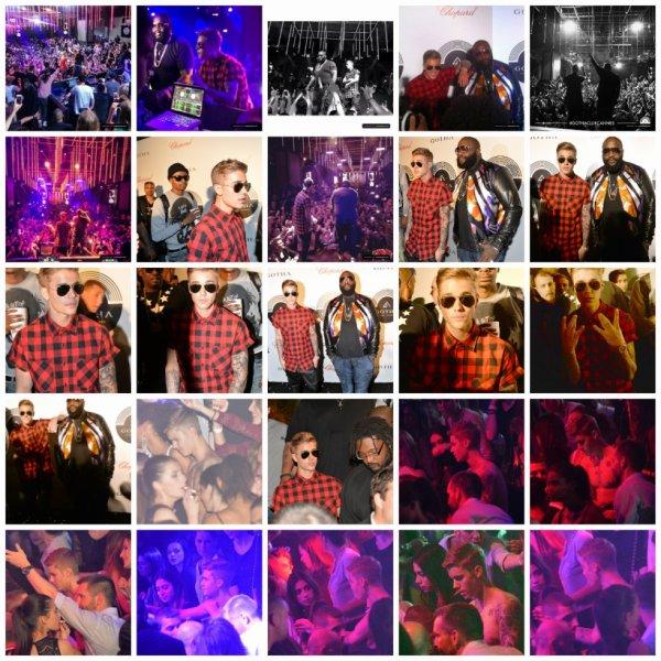 19.05 – Justin au club 'Gotha' avec Rick Ross à Cannes