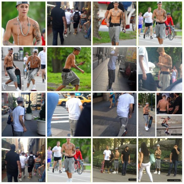 26.05 - Justin fait du skateboard dans NYC