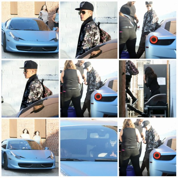18.06 - Justin arrive dans un studio d'enregistrement, Los Angeles