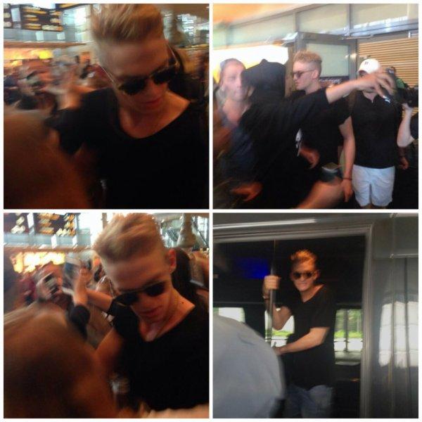 Cody à l'aéroport de Oslo