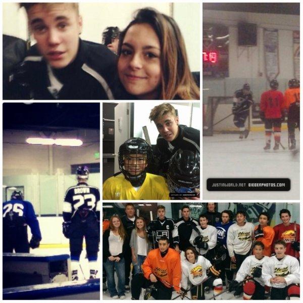 23.06 - Justin dans une patinoire pour faire du Hockey,