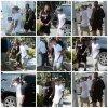 03.07 - Justin arrive sur un port à Miami, Floride