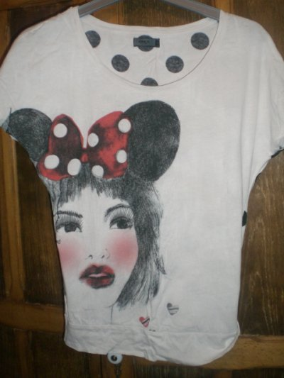 T-shirt only effet grisée taille M