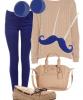 Commande 14 : Tenue quotidienne bleu/beige