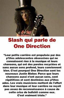 je vous quitte sur cette citation de Slash , tout est dit .