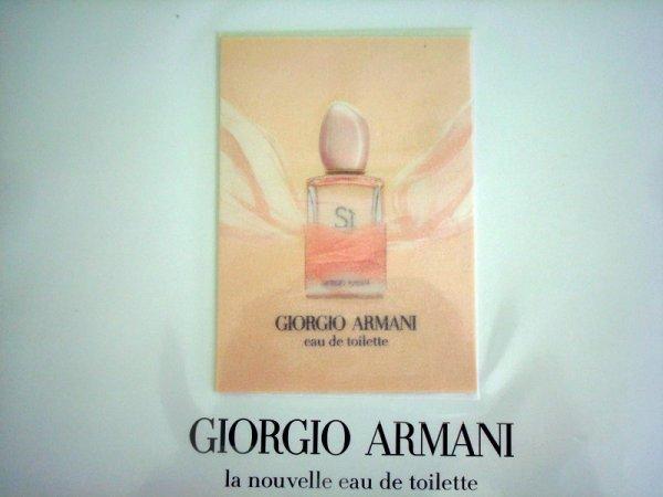 PUBLICITE ARMANI