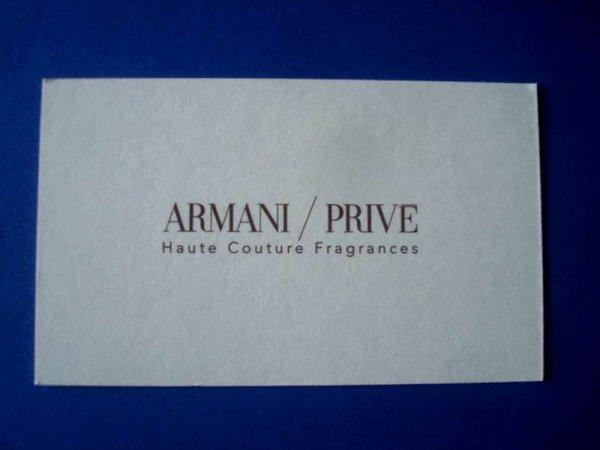 DOUBLES CARTES PARFUMEES ARMANI à l'échange ou à la vente...