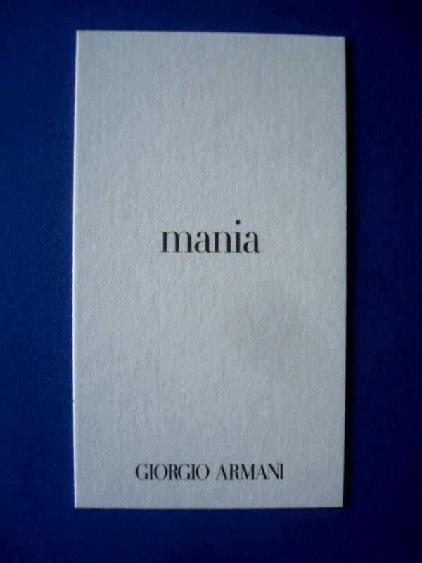 doubles ARMANI (suite)