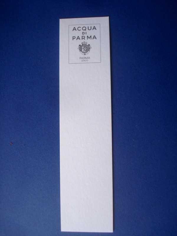 DOUBLES CARTES PARFUMEES ACQUA DI PARMA à la vente ou à l'échange...