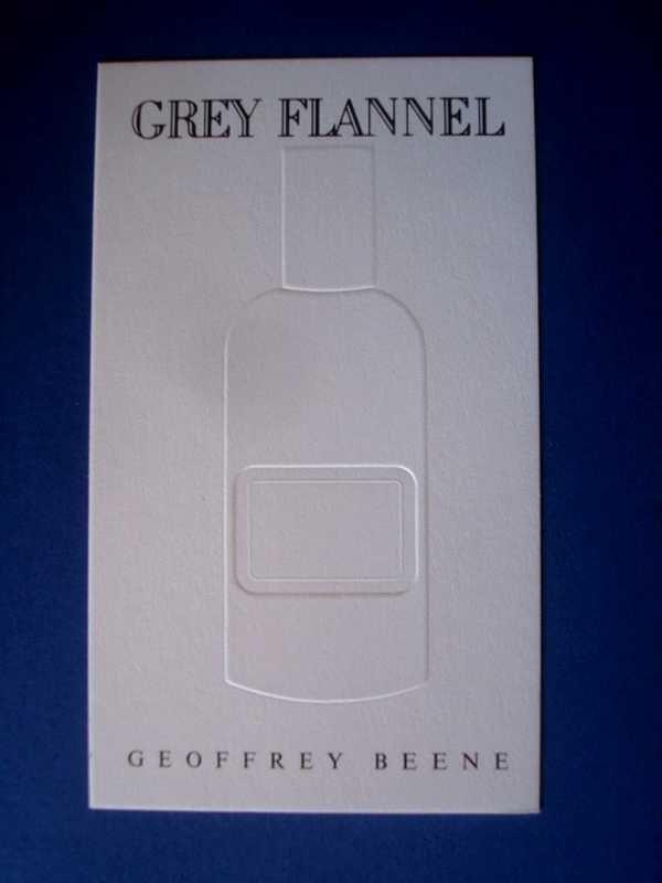DOUBLES CARTES PARFUMEES BEENE (Geoffrey) à la vente ou à l'échange...