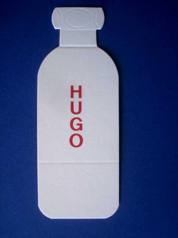 DOUBLES CARTES PARFUMEES BOSS (Hugo) à la vente ou à l'échange...
