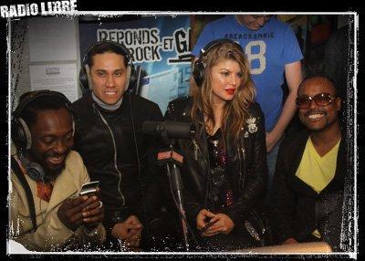 Les Black Eyed Peas dans la Radio Libre
