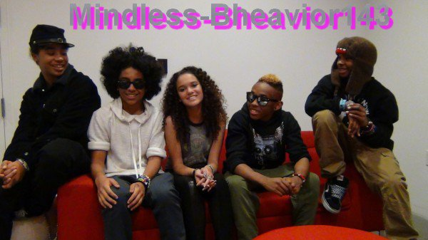Mindless Behavior à L'interview de Madison Pettis(: <3