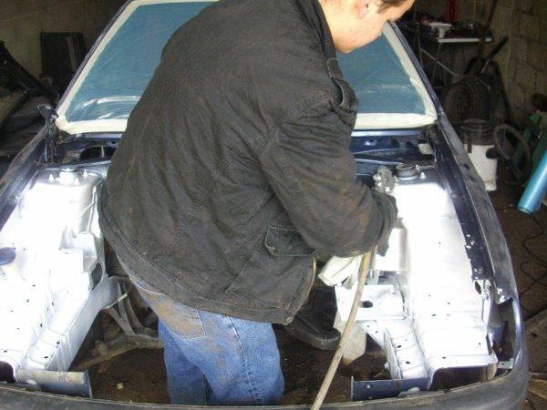 peinture habitacle moteur