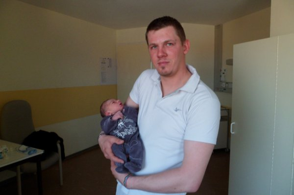 Mon homme avec notre fils