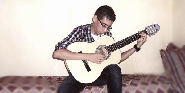 en mode guitariste ^^
