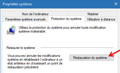 Windows 10 : comment faire une restauration de système.