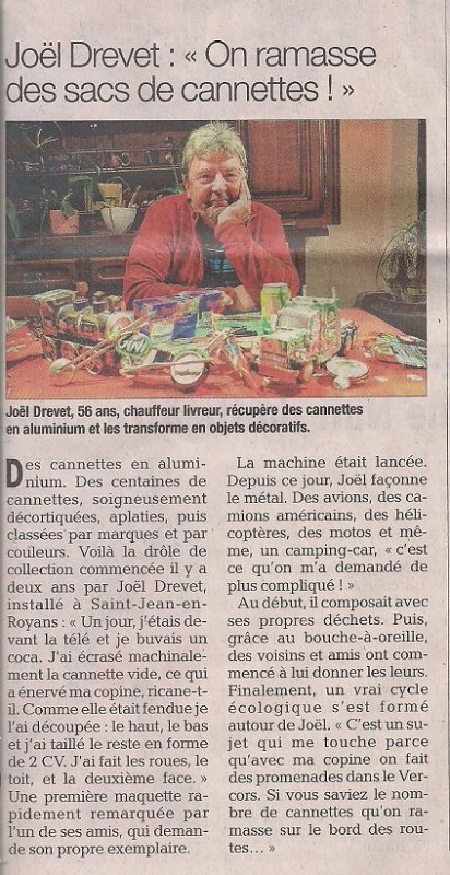 Un p'tit article bien sympa dans le Dauphiné Libéré