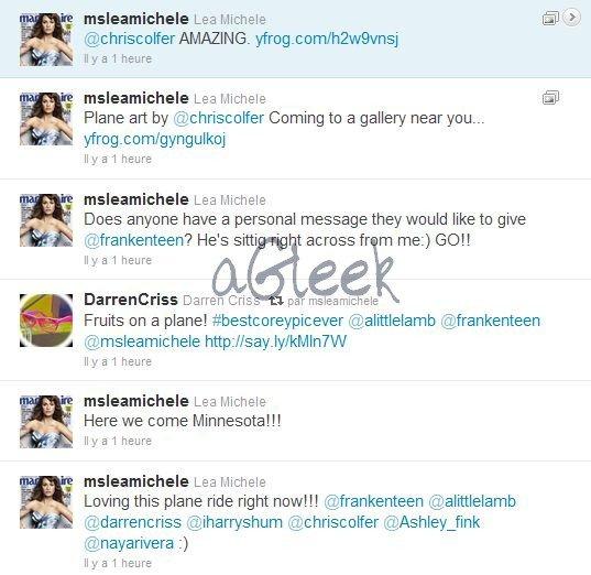 Le cast est accro à Twitter ... La preuve, rien que cet aprem' !