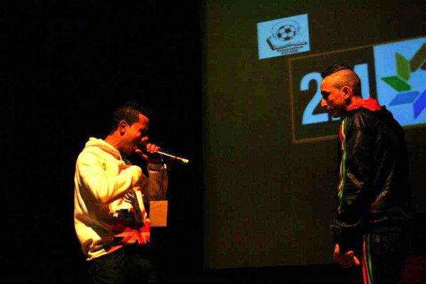 "Mc Blaman & Sonbol Sur scén "" FesTival Hip-Hop 4 Peace """