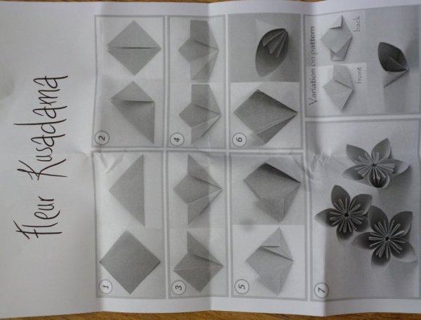 des origamis avec des mini-livres