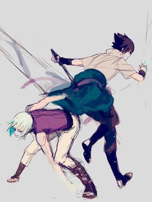 Sasuke et Suigetsu
