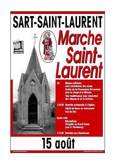 la marche de Sart-Saint-Laurent est annulee