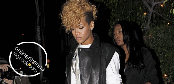 » 10 Jan | Rihanna au Giorgio Baldi avec Mélissa à Los Angeles