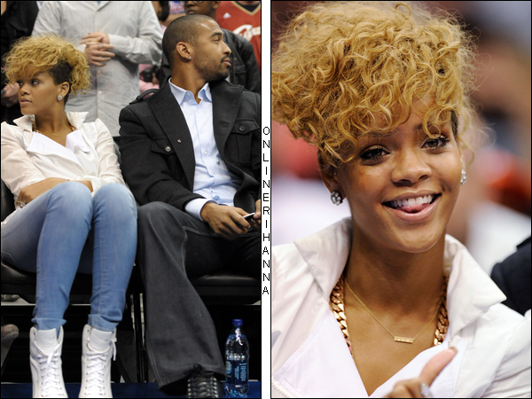 » 16 Jan | Rihanna et Matt Kemp à un match de basket à Los Angeles