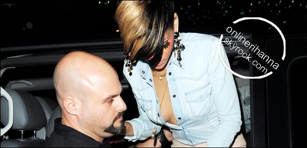 » 10 Mai | Rihanna au club « Mahiki » à Londres
