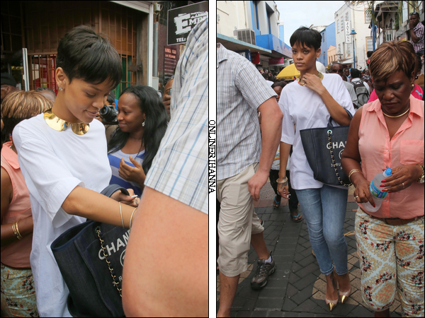 » 21 Déc | Rihanna fait du shopping à la Barbade