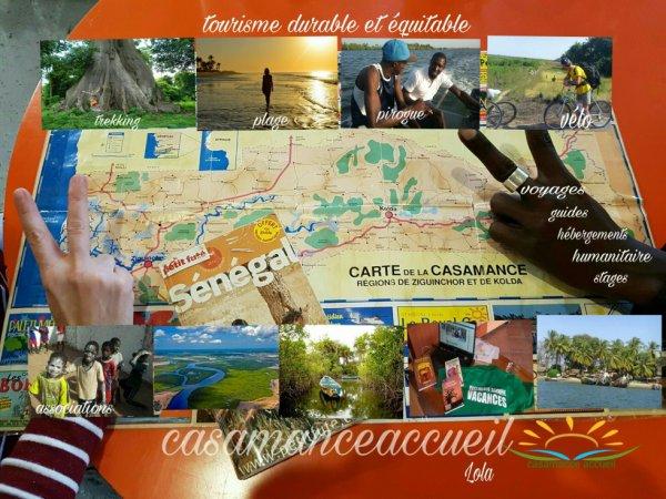 Carte Casamance