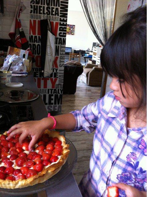 ma 1ère tarte aux fraises
