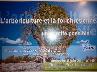 L'ARBORICULTURE ET LA FOI CHRETIENNE 5 juin 2011