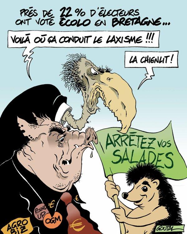 """Spécial """"22 % des électeurs ont voté écolo en Bretagne..."""" - Image n° 2/2 !..."""