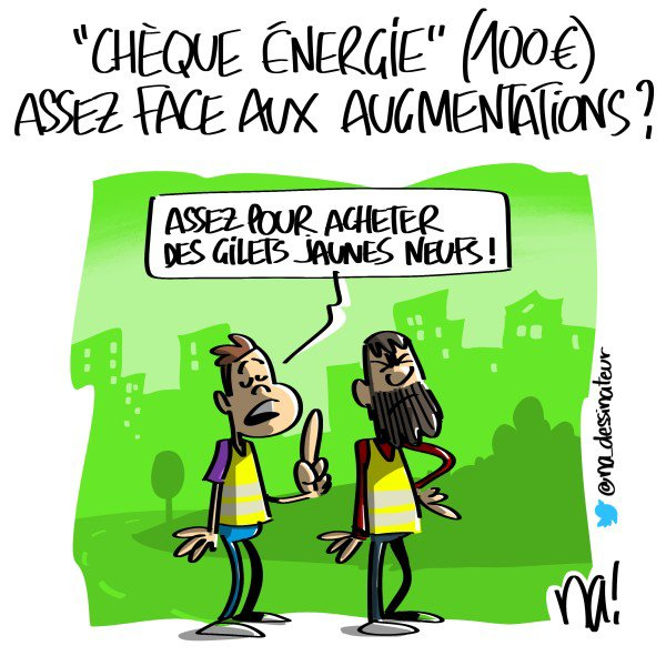 """Spécial """"« chèque énergie » (100 ¤) assez face aux augmentations ?..."""" - Image n° 2/2 !..."""