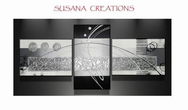 Tableau design noir blanc argent blog de susana - Tableau moto noir et blanc ...