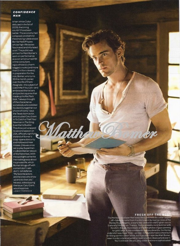Matt bomer pour GQ magazine