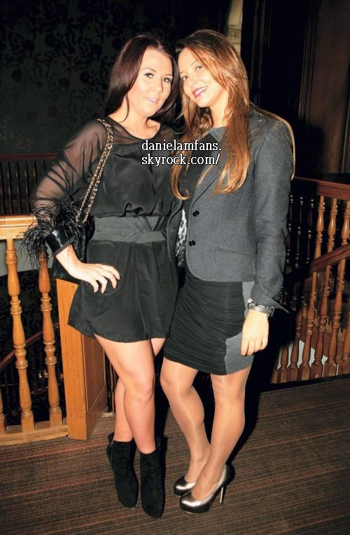 Daniela & Nicky Pike at Philip Armstrong festive fashion show in Manchester