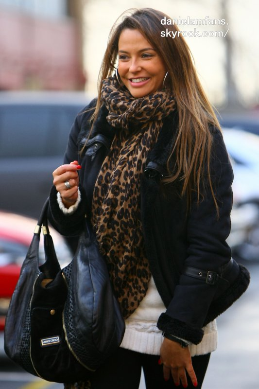 10.DEC.2011 - MANCHESTER - UK ,DANIELA ARRIVALS FOR THE MANCHESTER UNITED AND WOLVES MATCH AT OLD TRAFFORD IN MANCHESTER