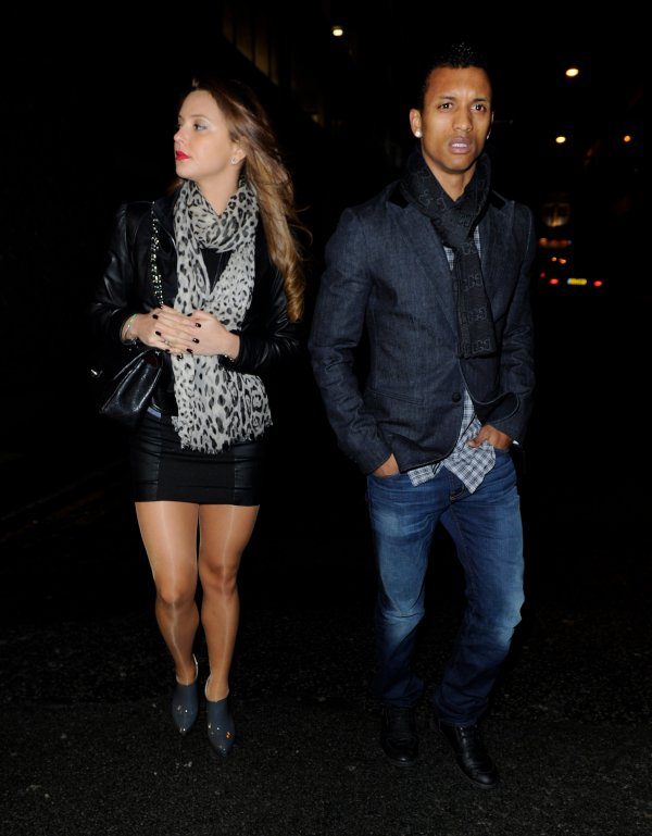 Daniela Martins & Nani outside San Carlos in Manchester