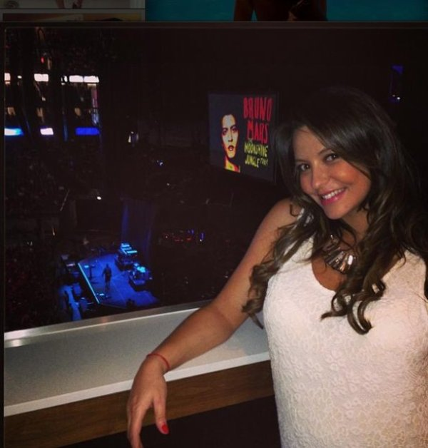 Daniela au concert de Bruno Mars !
