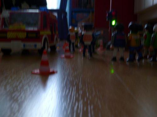 accident en plein centre ville devant un centre commercial